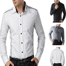 Amazing Hot Men's New Muscle Designer Casual Slim line Stylish Dress Shirts