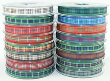 16mm Berisfords Tartan Ribbon - Choice of 16 Colours