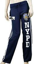 NYPD Womens Sweatpants New York Police Dept Training Pants Ladies Side Striped
