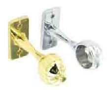 SECURIT END BRACKETS 19MM CHROME OR BRASS PLATED 2