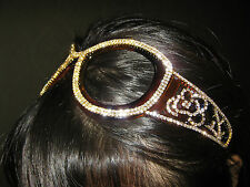 Sunglass-shaped Gorgeous HAIRBAND w/Authentic Swarovski Finest Crystals #51