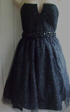 JS BOUTIQUE BLACK EVENING PARTY DRESS SIZE 10 12 14 16 BNWOT