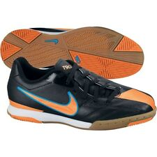 Nike Total 90 Shoot IV IC Indoor 2012 Soccer Shoes Black Orange Blue Kids Youth