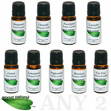10ml  100% Pure & Natural Essential oils for Aromatherapy. Choose 2 from 9 oils