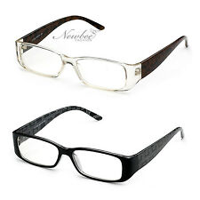 2 Pack NEW Women Clear Lens Fashion Glasses Designer Mosiac or Leopard Design