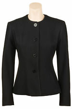Busy Black Wool Blend Ladies Jacket