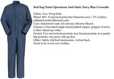 Paint Operation Anti-Static Navy Blue Coveralls CK44 NV  Red Kap uniform Auto