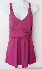 NWT Banana Republic Soft Stretch V-Neck Top S M Knot Gathered Tank Fuchsia NEW