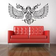 Wall Art sticker decal vinyl - Tattoo Wings - Gothic Flowers