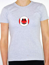 CANADA / CANADIAN MAPLE LEAF FLAG IN A SMILEY FACE Womens T-Shirt