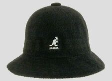 Kangol Bermuda Winter Casual Black Hat Cap (Black w/ White Logo) Authentic