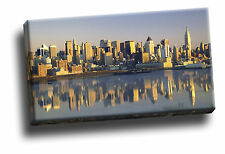New York City Reflected Giclee Canvas Picture Cityscape Art