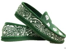 DARK GREEN BANDANA HOUSE SHOES SLIPPERS TROOPER BRAND NEW SIZE 8  9 10 11 12 13
