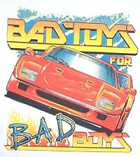 NEW! Mens BAD TOYS FOR FOR BAD BOYS Orange Sports Car T-Shirt - SIZE S - 3X