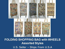 FOLDING SHOPPING BAG – FOLDING SHOPPING CART with WHEELS