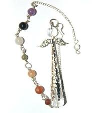 Very Large Guardian Angel Pendulum on Chakra Chain Choice of  Crystal SALE