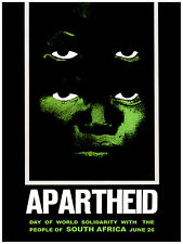 690.Anti-Apartheid African Wall Decoration POSTER.Political Graphic Art.History.