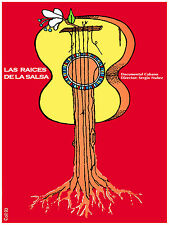 84.Art Decor POSTER.Graphics 2 decorate.Roots Raices de Salsa.Trova Guitar Music