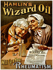 403.Hamlin's Wizard Oil Art Decoration POSTER.Graphics to decorate home office.