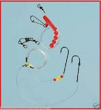 3 x Boat / Pier Sea Fishing Running Rigs 2 Hook All sizes (triple pack)