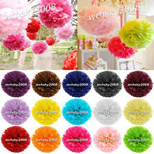 Lovely Tissue Paper Pom Poms Flowers Wedding Birthday Party Decorations Favours