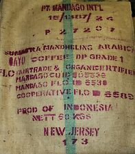 Sumatra Coffee Beans Organic F/T Dark Roasted 6 / 1 Pound Bags Ground By Request