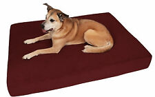 Extra Large XL Burgundy Big Barker Dog Bed - Sleek Edition - 52 x 36 x 7