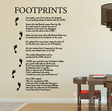 FOOTPRINTS IN THE SAND XL WALL ART   STICKERS      DECALS   FREE UK POST!   76
