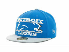 "New Era 59Fifty ""Detroit Lions Logo Zoom NFL Fitted Cap"" Hat $38"