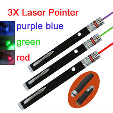 1x green/red/purple Laser Pointer Pen High Power professional 1mW new