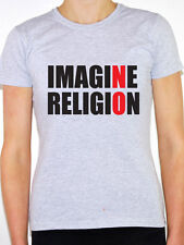 IMAGINE NO RELIGION - Atheism / Religion / Atheist / Fun Themed Women's T-Shirt