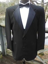 Black two button notched lapel tuxedo coat The Roma II  859
