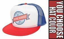 New Retro US POSTAL SERVICE Vintage Decal Hat Cap Baseball Trucker Snapbck