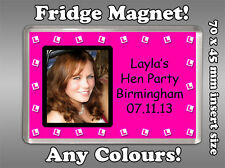 * Personalised LPLATES Photo FRIDGE MAGNET Hen Night Party Bag Favour Gift