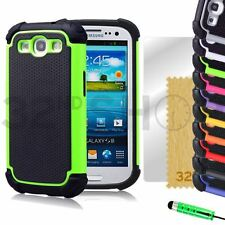 SHOCK PROOF SKIN CASE COVER FOR SAMSUNG GALAXY i9300 S3 + Free SCREEN PROTECTOR