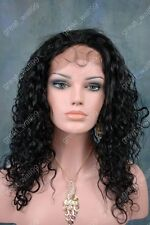 """full lace wigs 100% Indian remy human hair wig  12""""-20"""" curly #1 #1B #2 #4"""