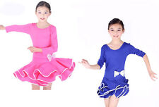 Children Latin Ballroom Dance Dress Kid's dance clothing Girls Dancewear CL002