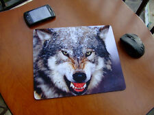 WOLF IMAGE MOUSEPAD CUP MAT TABLE PLACEMAT MICE PAD - FREE SHIPPING TO USA