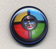 SIMON Badge Button Pin - RETRO COOL!  -  25mm and 56mm size!