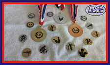 45mm Medals Gold/Silver/Bronze FREE Engraving FREE Ribbons and Sports Centre
