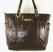 NEW COACH Patent Leather Tote F20432 Mahogany (Brown) - Free Shipping!