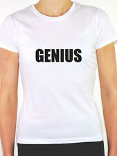GENIUS - Novelty / Humorous / Funny Themed Womens T-Shirt - Various Colours