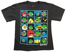 Angry Birds Game Charcoal Gray Shirt - Multiple Sizes Kids and youth Sizes