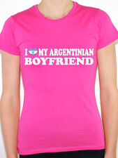 I LOVE MY ARGENTINIAN BOYFRIEND Argentina / South America Themed Womens T-Shirt