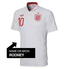 Authentic Umbro England Junior Home Shirt 2012- 2013, Rooney 10
