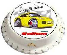 PERSONALISED BIRTHDAY CAKE TOPPER / PORSCHE - PERSONALISE WITH ANY NAME FREE