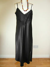 SATIN AND LACE FULL LENGTH CHEMISE NIGHTDRESS - NOW ON SALE - WAS £16.99