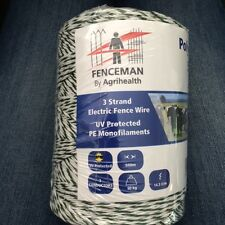 FENCEMAN ELECTRIC FENCE POLY WIRE 3 STRAND - HIGH QUALITY - 250m OR 500m