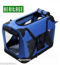 HERITAGE DOG PET CRATE FABRIC SOFT CARRIER KENNEL TRAVEL CAGE FOLDING 3 SIZES