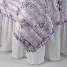 NEW SIMPLY SHABBY CHIC WHITE PINK BED RUFFLE EYELET BEDSKIRT CAL KING QUEEN TWIN